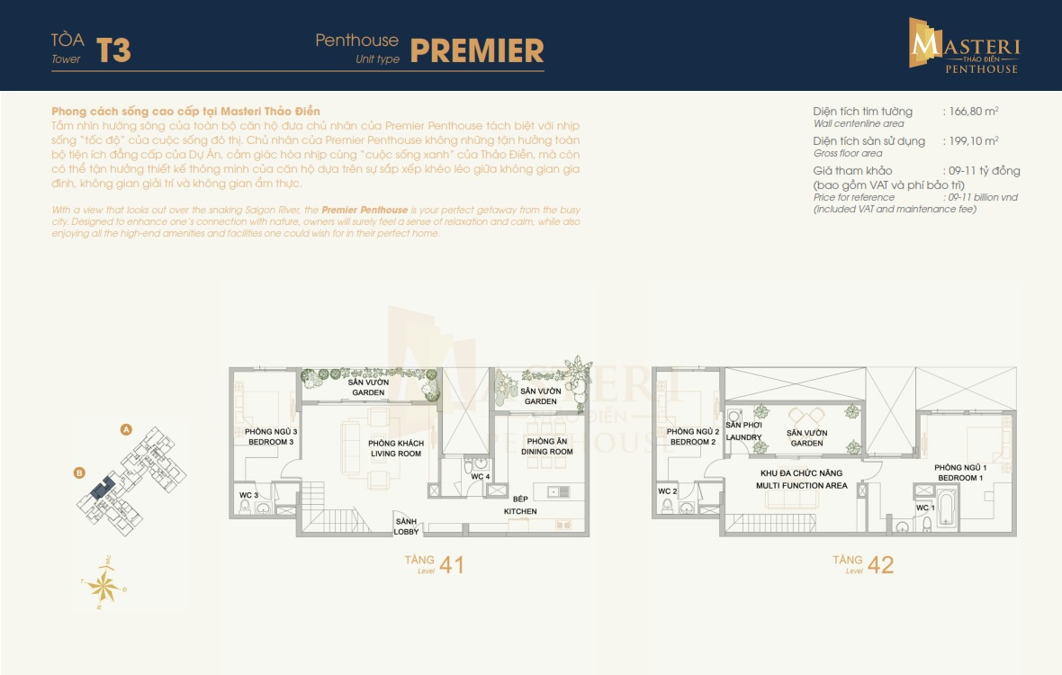Penthouse Masteri Thảo Điền